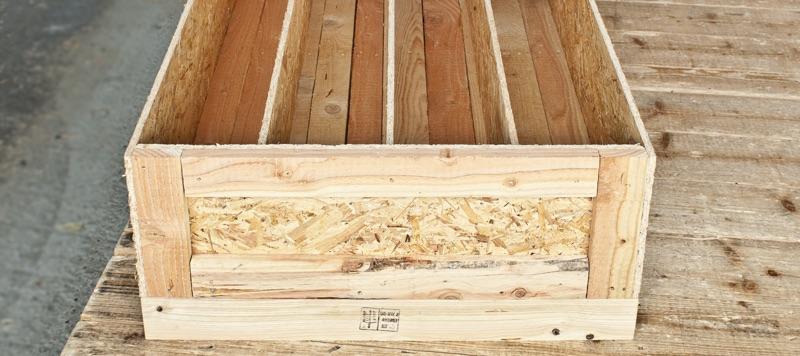 Eine sichere Transportkiste aus Holz.