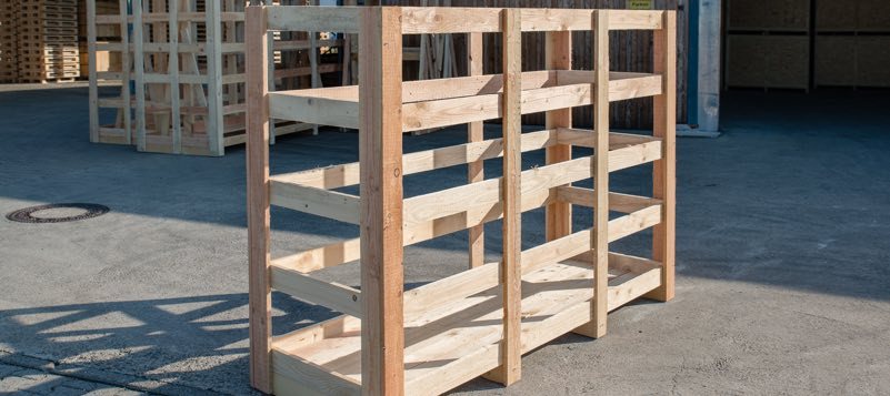 Unternehmen aus Karlsruhe verwenden Paletten aus Holz