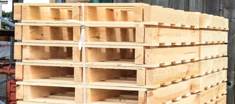 Nachhaltige Logistik mit Paletten aus Holz für Muggensturm